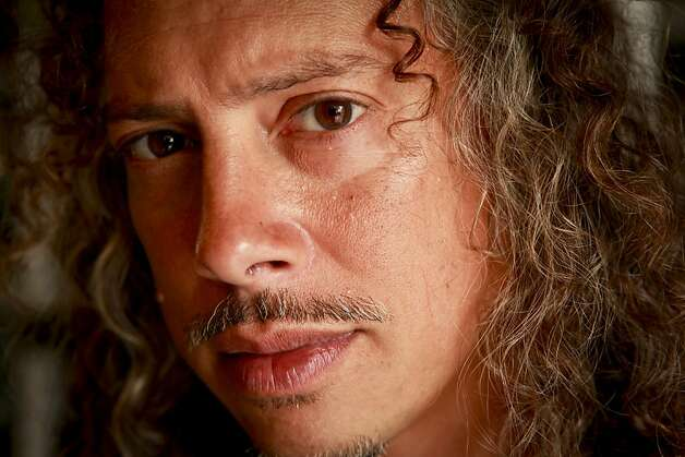 "Kirk Lee Hammett, guitarist for Metallica and longtime horror film fanatic, is coming out with a book, ""Too Much Horror Business - The Kirk Hammett Collection."" Photo: Russell Yip, The Chronicle"