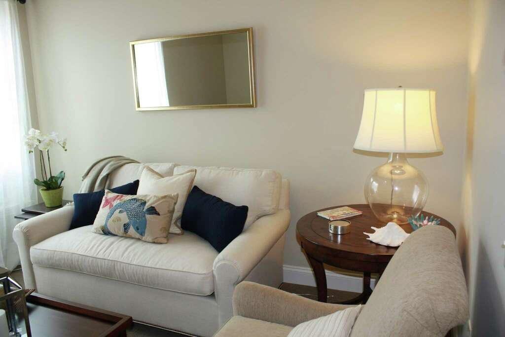An Alternative View Of A Model Living Room In One Bedroom Apartment At Maplewood Senior