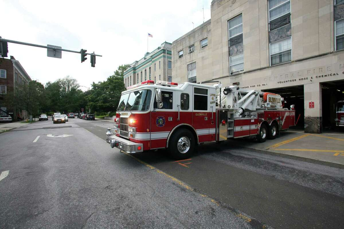When the new central fire station on Havemeyer Place in central Greenwich is rebuilt, it is believed fire apparatus will have easier exit and entry to the station, shown here in 2011.