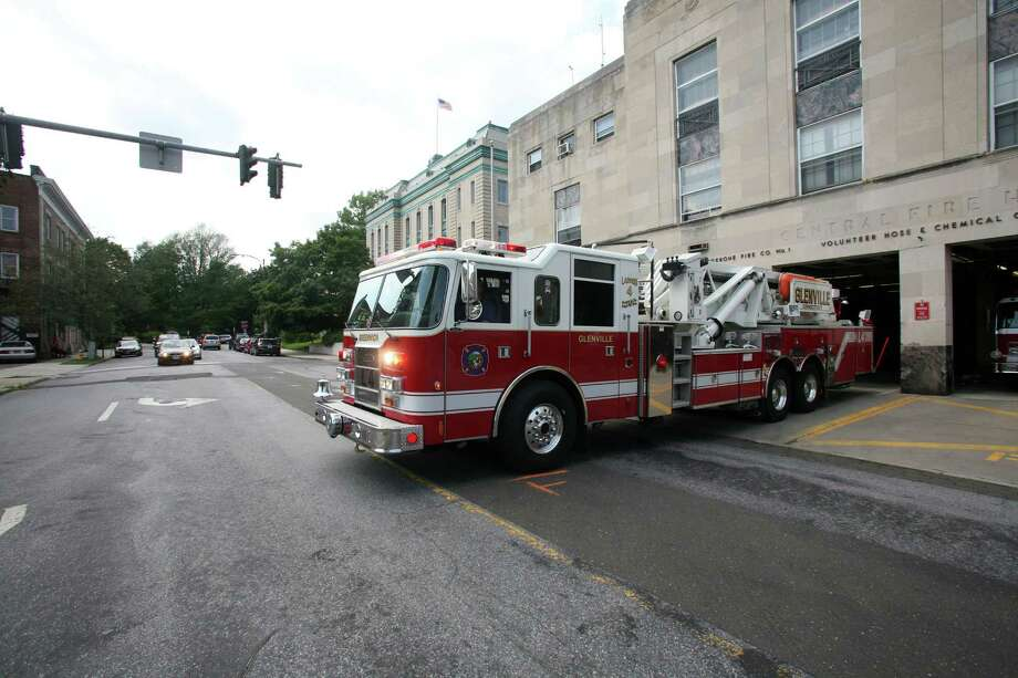 When the new central fire station on Havemeyer Place in central Greenwich is rebuilt, it is believed fire apparatus will have easier exit and entry to the station, shown here in 2011. Photo: David Ames, ST / Greenwich Time