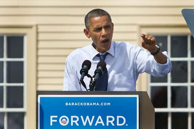 President Obama addresses the low job numbers in Portsmouth, N.H., a day after the Democratic National Convention. Photo: Kayana Szymczak, Getty Images