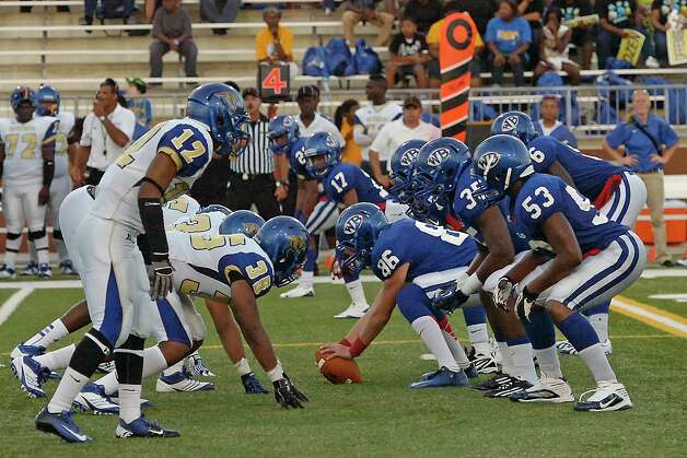 "Ozen High School met West Brook High School in the football season opener Friday August 31, 2012 at the Carrol A ""Butch"" Thomas Educational Support Center. At the half, Ozen was leading West Brook 13-7.  Dave Ryan/The Enterprise Photo: Dave Ryan"