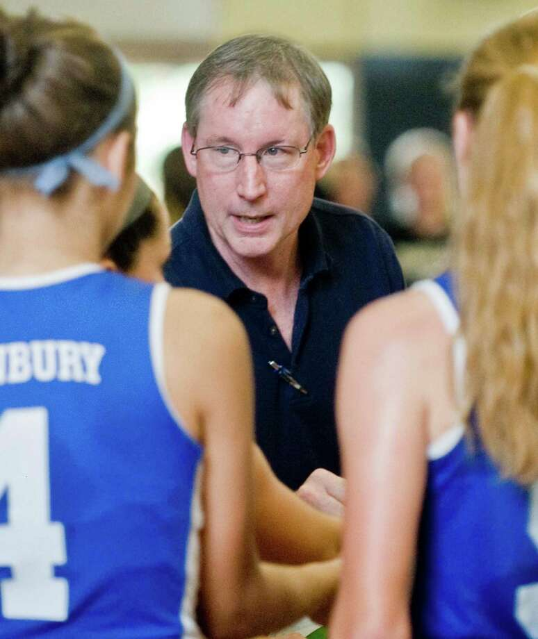 Danbury girls volleyball coach John MacMillan Photo: Scott Mullin