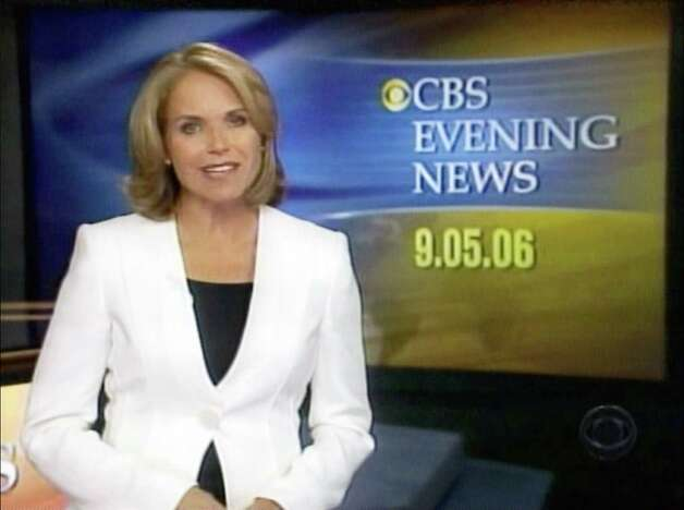 "Katie Couric debuted as ""CBS Evening News"" anchor in New York on Sept. 5, 2006.