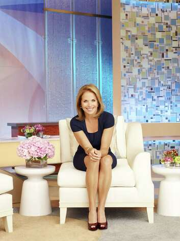 "Katie Couric on the set of her new talk show, ""Katie,"" where, she says, she'll still be ""the old Katie."" Photo: Disney-ABC Domestic Television"