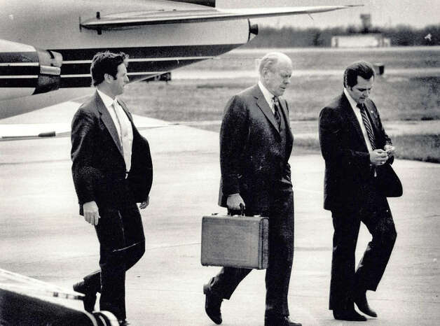 Gerald Ford at the Jefferson County Airport. Enterprise file photo