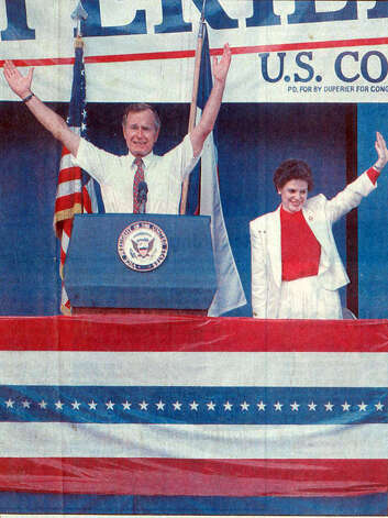 Vice President George Bush visits Beaumont on July 16, 1986. Enterprise file photo.