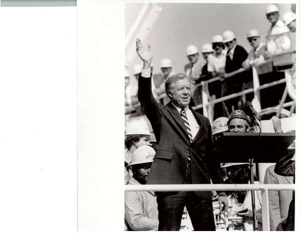 President Jimmy Carter's visit to the Port of Beaumont. Enterprise file photo