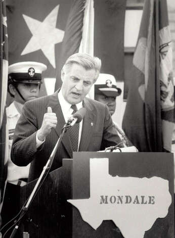 Walter Mondale in April of 1984. Enterprise file photo