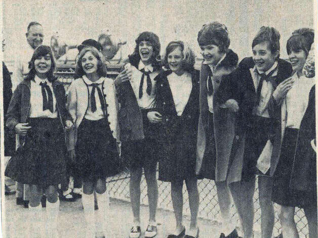 1968 Campfire Girls from Eugene Field wait for the arrival of Lyndon Johnson at the Beaumont Airport. Enterprise File photo
