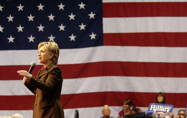 Presidential candidate, HIllary Clinton addresses a crowd of supporters at the Southeast Texas Regional Airport in Beaumont, TX Monday, March 3, 2008. Beaumont Enterprise, Tammy McKinley Photo: TAMMY MCKINLEY