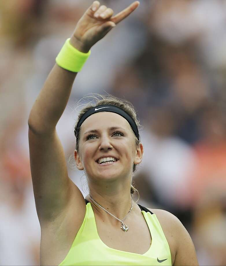 Victoria Azarenka dropped the first set, then beat Maria Sharapova in the semifinals. Photo: Mike Groll, Associated Press