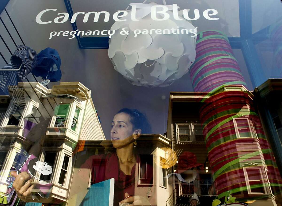 Sharone Mendes-Nassi, owner of Carmel Blue along Grant St.in the North Beach neighborhood in San Francisco, Calif., on Friday September 07, 2012. The North Beach neighborhood is seeing a revival of sorts as some of the old stalwart businesses are closing. A new crop of shops, and restaurants are making it feel like a neighborhood once again.