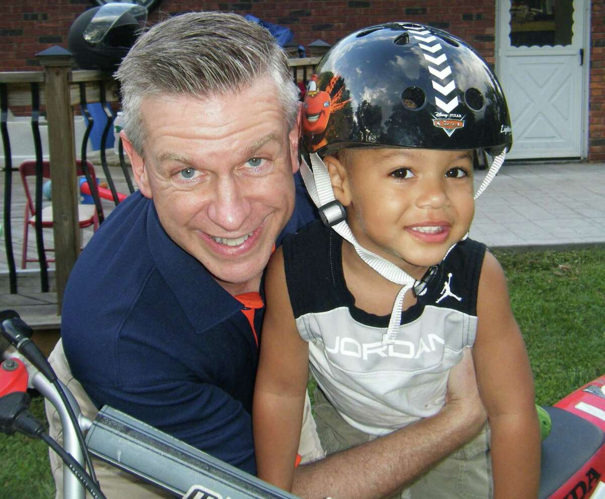 News-Times columnist Brian Koonz is shown with his nephew earlier this summer in upstate New York.