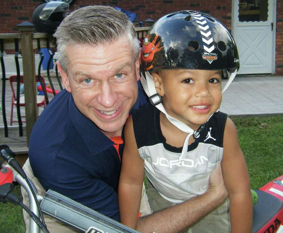 News-Times columnist Brian Koonz is shown with his nephew earlier this summer in upstate New York. Photo: Contributed Photo