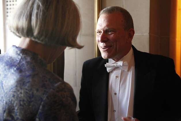 The San Francisco Opera's General Director David Gockley welcomes patrons to the Opera Ball celebrating the opening of the Opera's 90th Season on Friday, Sept. 7, 2012. Gockley has been the General Director since 2006. Photo: Alex Washburn