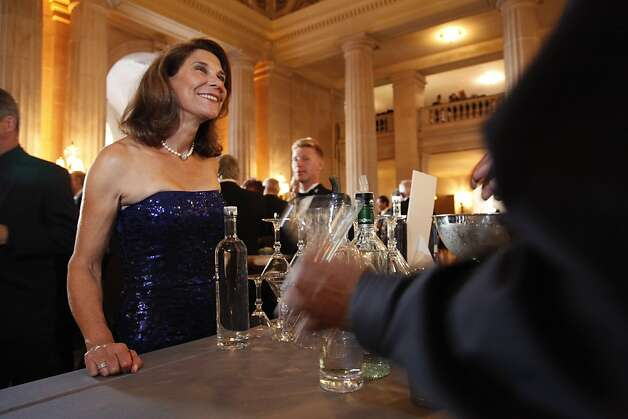 Jeanne Eber waits for her drink at the Opera Ball celebrating the opening of the San Francisco Opera's 90th Season on Friday, Sept. 7, 2012. After cocktail hour those in attendance were entertained with Giuseppe Verdi's Rigoletto conducted by Music Director Nicola Luisotti. Photo: Alex Washburn