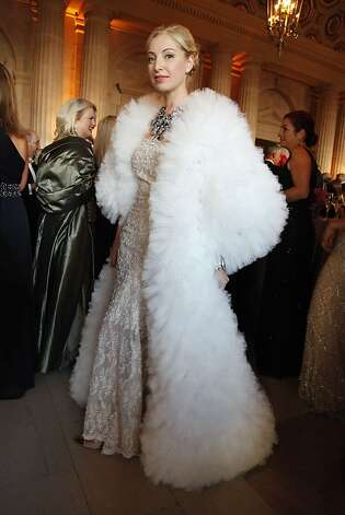Sonya Molodetskaya shows off her Vasily Vein gown at the Opera Ball celebrating the opening of the San Francisco Opera' 90th Season on Friday, Sept. 7, 2012. After cocktail hour those in attendance were entertained with Giuseppe Verdi's Rigoletto conducted by Music Director Nicola Luisotti. Photo: Alex Washburn