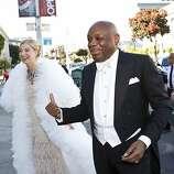 Sonya Molodetskaya arrives at the San Francisco Opera Opening Night Gala with former San Francisco Mayor Willie Brown at War Memorial Opera House in San Francisco, Calf., on Friday, September 7, 2012.