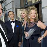 Rick Hilton, Alan Malouf, Karen Sutherland and Kathy Hilton (left to right) arrive at War Memorial Opera House to attend the San Francisco Opera Opening Night Gala in San Francisco, Calf., on Friday, September 7, 2012.