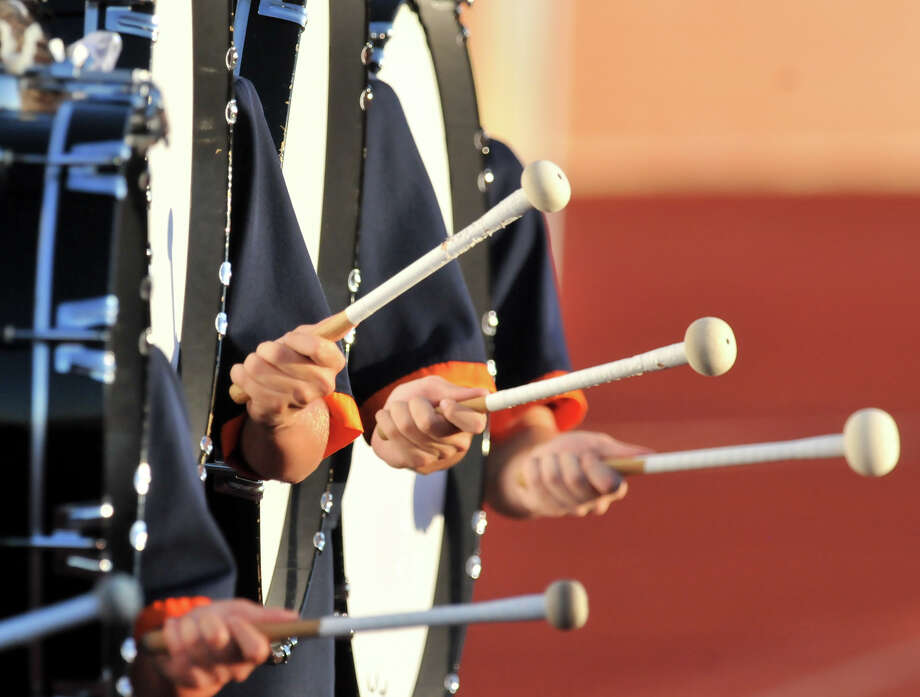 Brandeis High School band members play their drums prior to the game vs. Johnson. Photo: ROBIN JERSTAD, Express-News