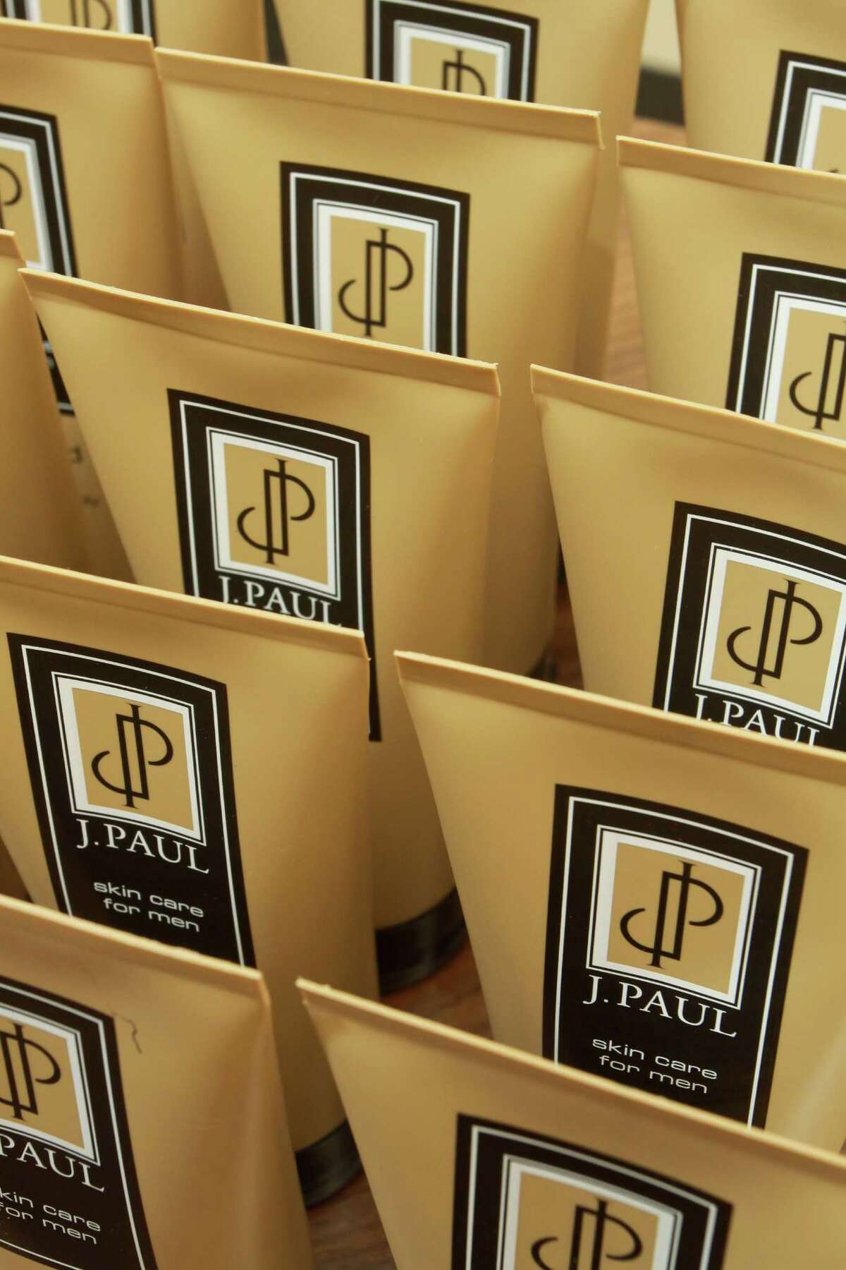 (For the Chronicle/Gary Fountain, September 4, 2012) Items from the product line of J. Paul Skincare, a skincare line for men.