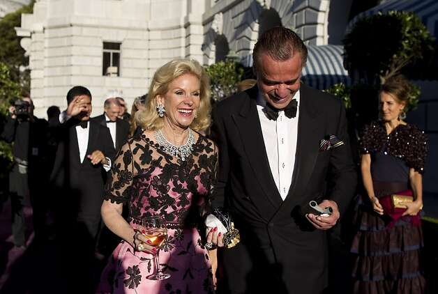 Dede Wilsey walks to dinner with Boaz Mazor during the San Francisco Opera Opening Night Gala at War Memorial Opera House in San Francisco, Calf., on Friday, September 7, 2012. Photo: Laura Morton, Special To The Chronicle