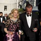 Dede Wilsey walks to dinner with Boaz Mazor during the San Francisco Opera Opening Night Gala at War Memorial Opera House in San Francisco, Calf., on Friday, September 7, 2012.