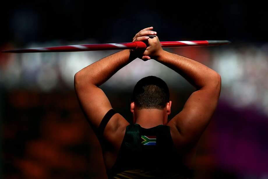 Casper Schutte of South Africa competes in the Men's Javelin Throw — F42 final on day 9 of the London 2012 Paralympic Games at Olympic Stadium on September 7, 2012 in London, England. Photo: Dean Mouhtaropoulos, Getty Images
