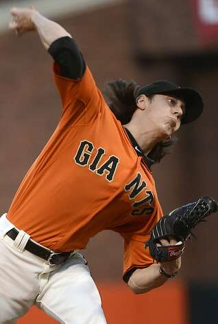 SAN FRANCISCO, CA - SEPTEMBER 07:  Tim Lincecum #55 of the San Francisco Giants pitches against the Los Angeles Dodgers at AT&T Park on September 7, 2012 in San Francisco, California.  (Photo by Thearon W. Henderson/Getty Images) Photo: Thearon W. Henderson, Getty Images
