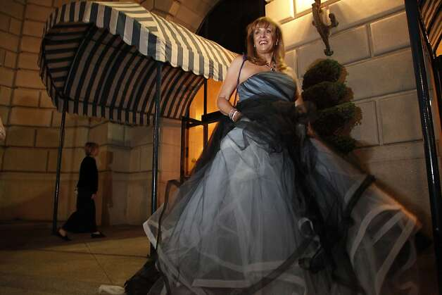 Co-Chair of the San Francisco opera patron dinner Cathy MacNaughton makes her way to the after party to celebrate the opening of the San Francisco Opera's 90th Season on Friday, Sept. 7, 2012. Photo: Alex Washburn, Special To The Chronicle