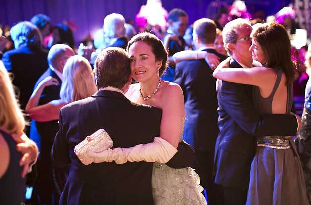 Guests of the San Francisco Opera Opening Night Gala enjoy the dance floor during the post-performance party, which was set up in a tent outside War Memorial Opera House, in San Francisco, Calif., on September 7, 2012. Photo: Laura Morton, Special To The Chronicle