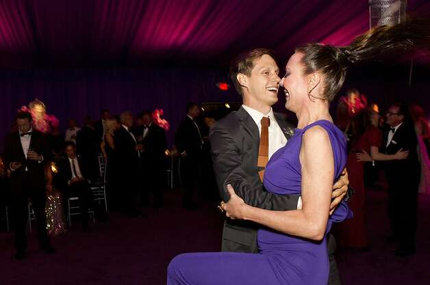 Luke Willis and Margaret Mitchell enjoy the dance floor during the San Francisco Opera Opening Night Gala post-performance party in San Francisco, Calif., on September 7, 2012. Photo: Laura Morton, Special To The Chronicle