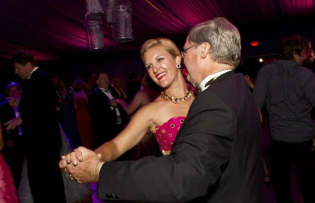 Danielle Malott dances with her father James Malott while attending the San Francisco Opera Opening Night Gala post-performance party in San Francisco, Calif., on September 7, 2012. Photo: Laura Morton, Special To The Chronicle