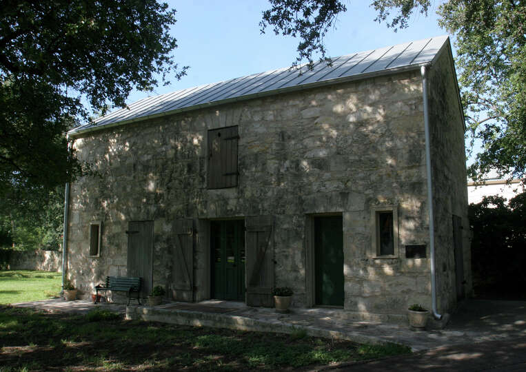 The Stuemke Barn, originally built at the corner of North Flores and Travis Street, was disma