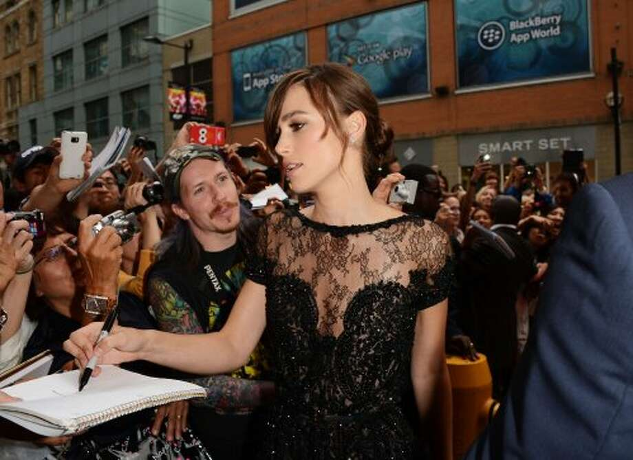 "Keira Knightley attends the ""Anna Karenina"" premiere at the 2012 Toronto International Film Festival.  (Jason Merritt / Getty Images)"