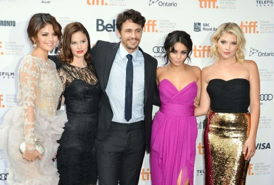 "TORONTO, ON - SEPTEMBER 07:  (L-R) Actors Selena Gomez, Rachel Korine, James Franco, Vanessa Hudgens and Ashley Benson attend the""Spring Breakers"" premiere during the 2012 Toronto International Film Festival at Ryerson Theatre on September 7, 2012 in Toronto, Canada.  (Photo by Alberto E. Rodriguez/Getty Images) (Alberto E. Rodriguez / Getty Images)"