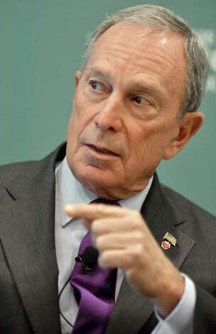 No.10 Michael Bloomberg is worth an estimated $25 billion, according to Forbes.  Photo: Josh Reynolds / FR25426 AP