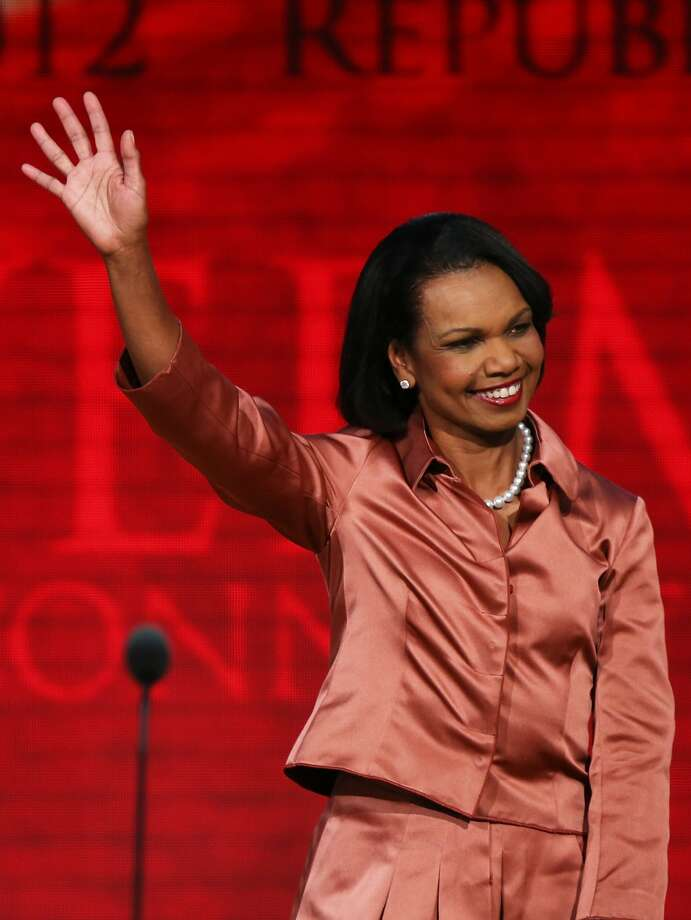 "Condoleezza Rice meet Liz Lemon. Rice once had a cameo on ""30 Rock."""