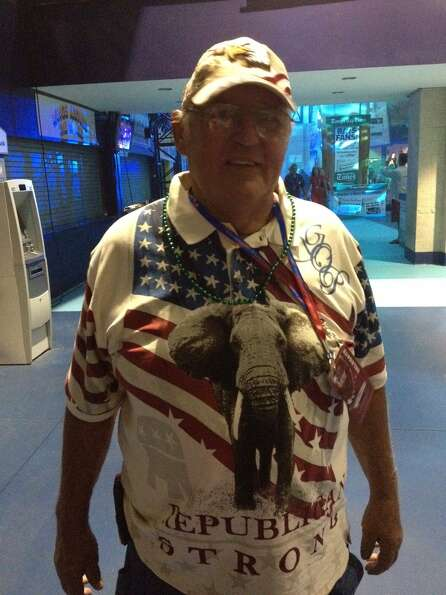 Lee Anderson of McAlester, Okla., is fashionably dressed for the big party.
