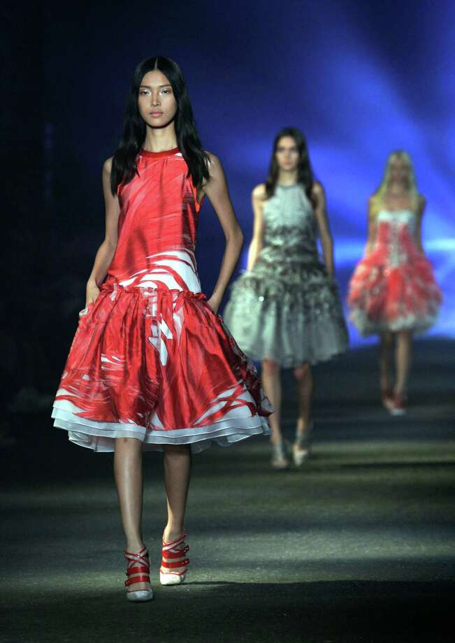 The Prabal Gurung Spring 2013 collection is modeled. Photo: Richard Drew