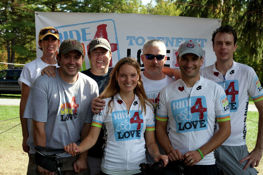 Participants in a recent Ride Run Walk 4 Love event gather in their quest to end child trafficking. This year?s event will take place on Saturday, Sept. 22, in the Saratoga Spa State Park. (Photo by Jeffrey Stasko)