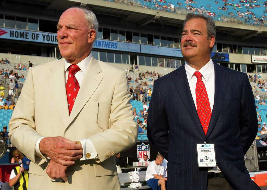 Texans COO  Cal McNair, right, always dreamed of working with his father  and being part of a pro football team, and that dream came true when Bob McNair brought the NFL back to Houston 10 years ago. Photo: Brett Coomer / © 2012  Houston Chronicle