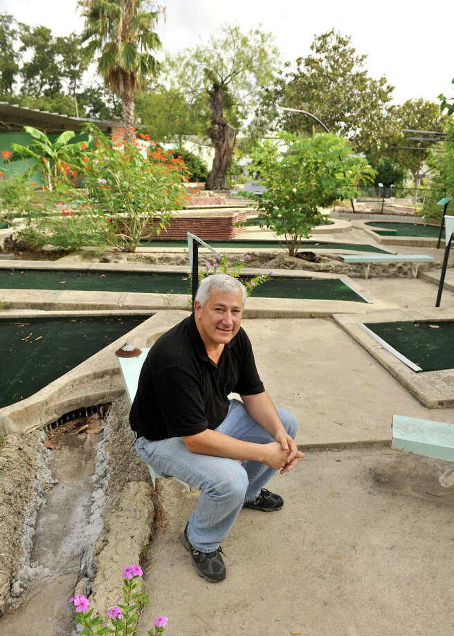 "Dr. James Andry, seen at Cool Crest on Aug. 25, 2012, has restored the miniature golf course, which has been closed for several years, to its former glory. The City Council recently approved the ""closure, vacation and abandonment"" of a 12-foot-wide right of way that had been impeding the sale of the landmark Cool Crest miniature golf course property on Fredericksburg Road, paving the way for the course to reopen. Photo: Robin Jerstad,  For The Express-News"