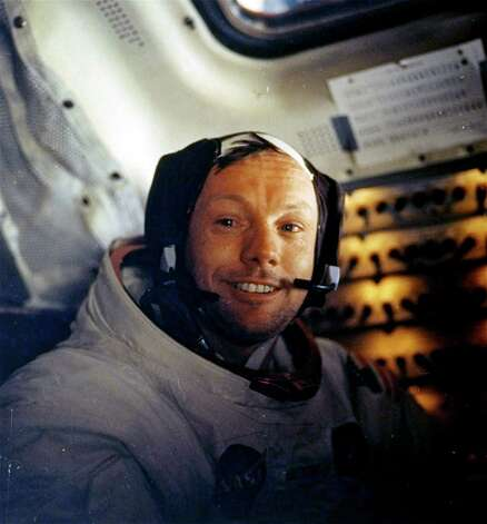 FILE - This July 20, 1969 file photo provided by NASA shows Neil Armstrong. Lunar pioneers plan to attend a private service in Ohio for astronaut Neil Armstrong, Friday Aug. 31, 2012 following an event to announce a children's health fund in his honor.  (AP Photo/NASA) Photo: Uncredited, Associated Press / NASA