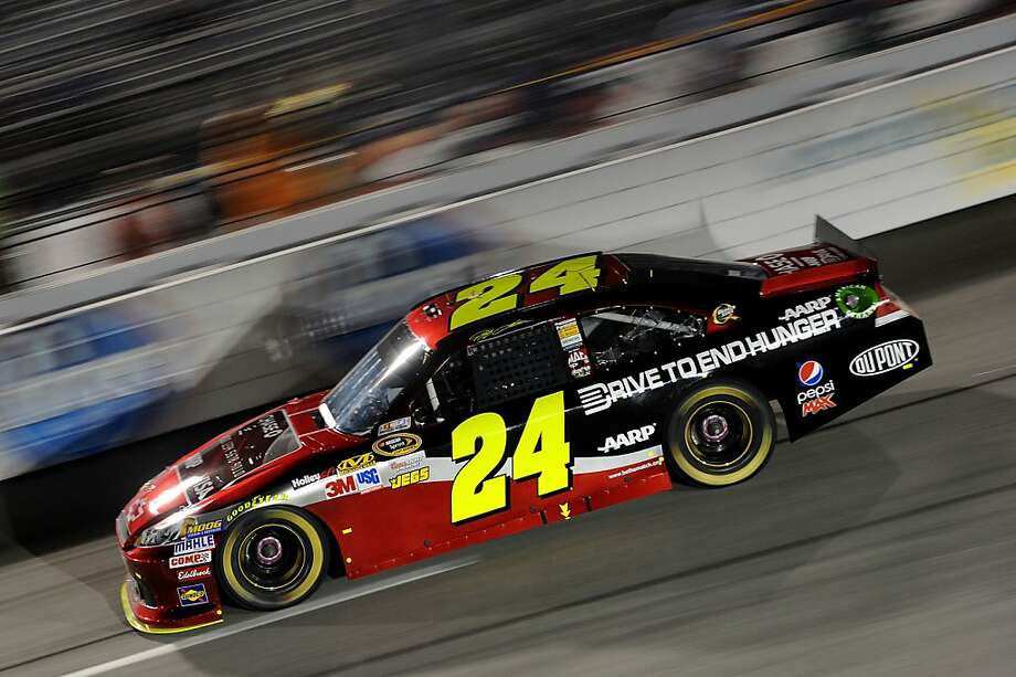 Jeff Gordon finished second at Richmond but was the night's biggest winner, slipping ahead of Kyle Busch in the standings. Photo: Patrick Smith, Getty Images For NASCAR