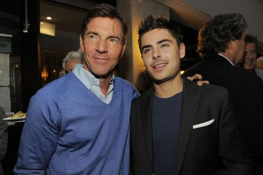 Actors Dennis Quaid, left, and Zac Efron pose together at the Sony Pictures Classics party. (CHRIS PIZZELLO/INVISION/AP)