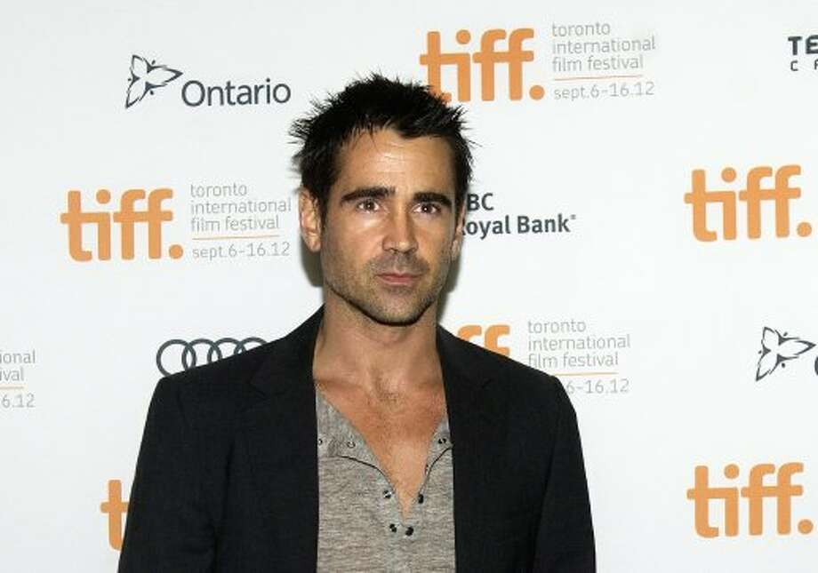 "Actor Colin Farrell poses on the red carpet at the gala for the new movie ""Seven Psychopaths."" (ASSOCIATED PRESS)"