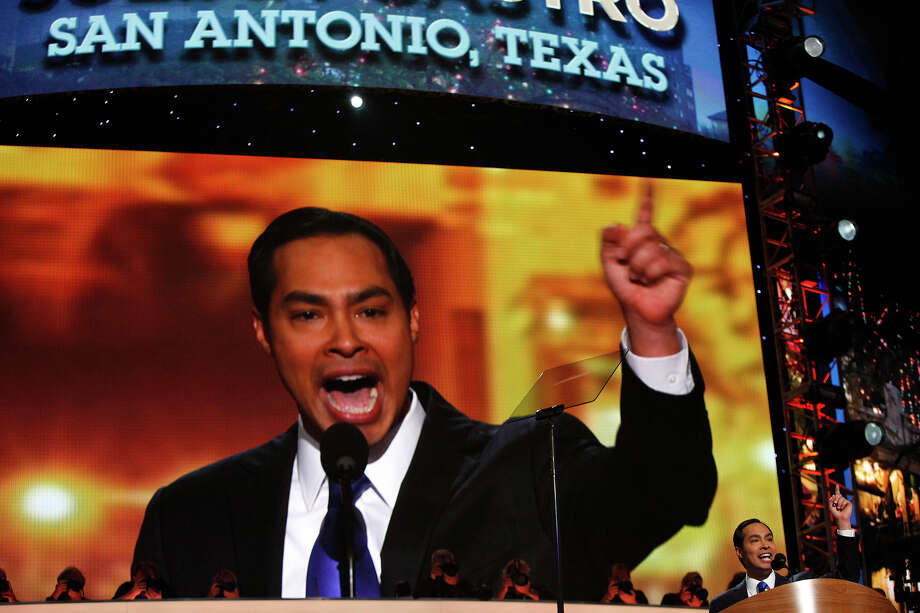 It's hard to take the politics out of politicians — and there's nothing different about that with Mayor Julián Castro.Though in Texas, mayoral and City Council seats are nonpartisan positions, San Antonio knows its mayor is a Democrat.Long before his aspirations to serve the public were widely known — when he was a first-year law student at Harvard — Castro penned a commentary for the San Antonio Express-News that indicated his political persuasion.From the City Council dais, Castro isn't often faced with overt partisanship. Fixing potholes and reconstructing streets aren't things that break down between party lines. But his support for certain city policies, coupled with several symbolic actions he's taken, added to remarks in his recent keynote address at the Democratic National Convention and subsequent national media appearances, show that he aligns on several major points in the 2012 Democratic National Platform.Here's Castro's take on some of those planks:Photo caption: Mayor Julián Castro delivers the keynote address on the first night of the Democratic National Convention at Time Warner Cable Arena in Charlotte, N.C., on Sept. 4, 2012. (Lisa Krantz / San Antonio Express-News)