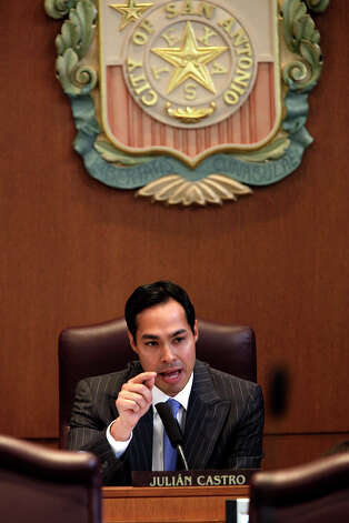 "IMMIGRATION: In summer 2010, Castro led an effort to pass a City Council resolution against Arizona's controversial immigration laws, which allow local authorities to verify the immigration status of individuals suspected of being in the country illegally. He said there was a ""certain ugliness"" in that state and asked at a June 2010 council meeting: ""How do you tell if someone is here legally or illegally? By the way they look? By the way they sound? By what they're doing? By where they work?"" Castro asked. ""Our statement today is not only a statement about what this type of legislation would mean for folks who may be here who are undocumented,"" he said. ""It's principally a statement about what it will mean for people who are here who are citizens, who are legal!""Castro's grandmother immigrated to San Antonio as a child. Her story was part of his keynote address.Photo caption: Mayor Julián Castro has the final words before a resolution condemning the Arizona immigration law is voted on by the City Council on June 24, 2010. The Castro-led resolution passed 8-3. (Jerry Lara / San Antonio Express-News)"